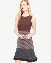Ann Taylor Mixed Print Flounce Dress