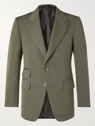 Tom Ford Shelton Slim-Fit Cotton Silk-Blend Suit Jacket