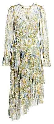 Zimmermann Women's Super 8 Long-Sleeve Tiered Dress