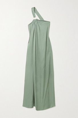 Cult Gaia Theodora One-shoulder Open-back Jersey Maxi Dress - Green