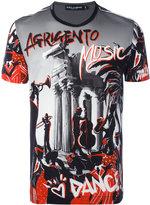 Dolce & Gabbana music print T-shirt - men - Cotton - 52