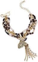 Thalia Sodi Gold-Tone Tortoiseshell-Look Link Bracelet, Only at Macy's