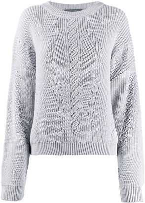 Alberta Ferretti long-sleeve knitted sweater