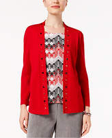 Alfred Dunner Talk Of The Town Layered-Look Cardigan