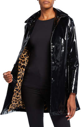 Jane Post Faux-Fur Lined Iconic Slicker w/ Detachable Hood
