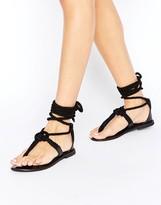 Asos FLYTRAP Rope Tie Leg Sandals