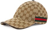Gucci invite print canvas baseball hat