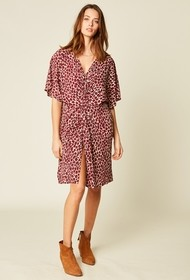Stella Forest Short Printed Dress in Brique - size 36