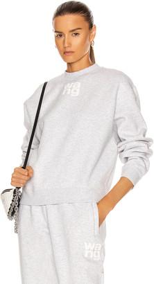 Alexander Wang Foundation Terry Crewneck Sweatshirt in Light Heather Grey | FWRD