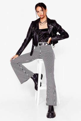 Nasty Gal Womens Living On a Thin Line Flare Trousers - Black - 4