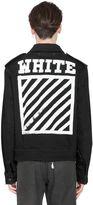 Off-White Stripes Printed Cotton Denim Jacket