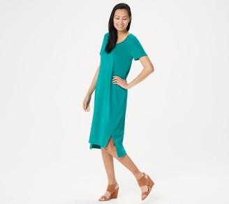 H by Halston Regular Essentials Scoop-Neck Midi Dress