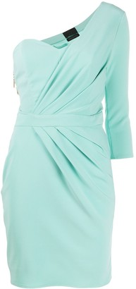 Elisabetta Franchi One Shoulder Ruched Dress
