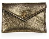 Alexander McQueen Skull Metallic Leather Envelope Card Case