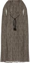 Hatch Off-the-shoulder Printed Crepe Maxi Dress - Black