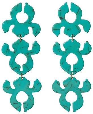 Lele Sadoughi Iris Bouquet Shadow Earrings