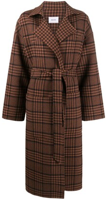 Nanushka Alamo plaid print coat