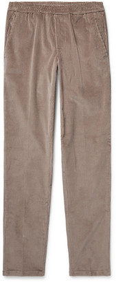 Taupe Slim-Fit Cotton-Corduroy Suit Trousers