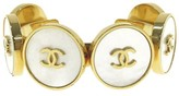 Chanel Gold Tone & White Shell Bracelet