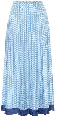 Valentino Exclusive to Mytheresa Printed silk-twill midi skirt