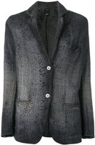 Avant Toi woven buttoned-up blazer