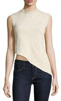 Ralph Lauren Collection Sleeveless Asymmetric-Hem Top, Blonde