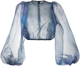 Beaufille sheer puff blouse