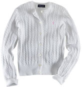 Ralph Lauren Long Sleeve Cotton Cardigan Sweater With Pony Player