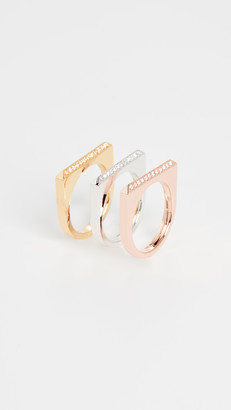 Kate Spade Pave Ring Set