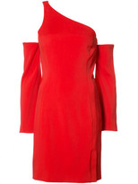 Thierry Mugler Red asymmetrical dress