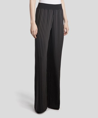 Atm Striped Wide Leg Pants - Black Combo