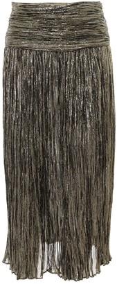 Saint Laurent Pleated Midi Skirt