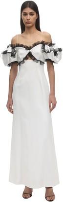 Givenchy Ruffled Crepe Envers Satin Dress