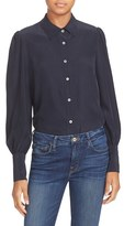 Frame Women's Puff Sleeve Silk Blouse