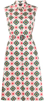 Aspesi geometric shirt dress