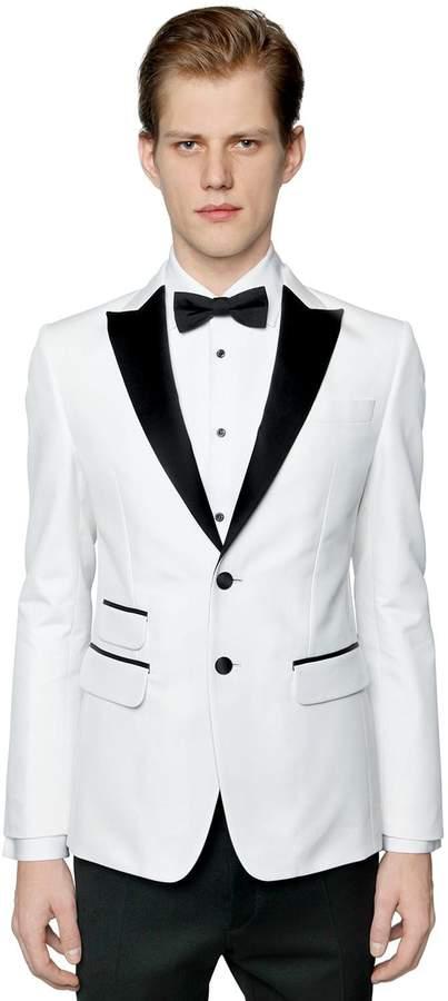 DSQUARED2 London Cotton Blend Tuxedo Jacket