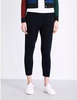 The Elder Statesman Cropped cashmere-blend jogging bottoms