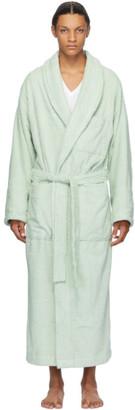 Tekla Green Terrycloth Bath Robe
