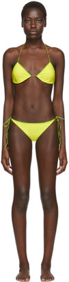 Oseree SSENSE Exclusive Green String Bikini