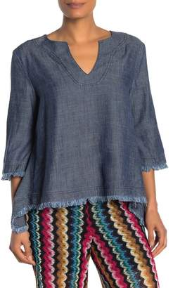 Trina Turk Obscura Frayed Shirt