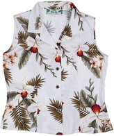 Two Palms Womens Hawaiian Shirt Sleeveless Hawaiian Orchid in 100% Rayon
