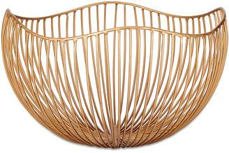Nkuku Kyo Wire Bowl - Brass