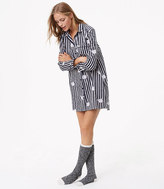 LOFT Cat Stripe Pajama Dress