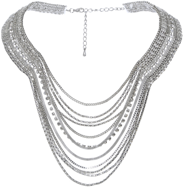 Arden B Mixed Rhinestone Swag Necklace