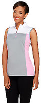Denim & Co. As Is Active/Golf Color-Block Sleeveless Top