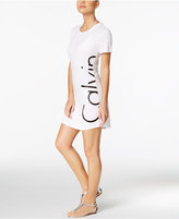 Calvin Klein Logo Cover-Up T-Shirt Dress
