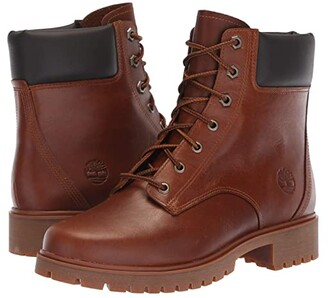 Timberland Jayne 6 Waterproof Boot (Medium Brown Full Grain) Women's Lace-up Boots