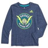 adidas 'Football Players Unite' Graphic Climalite ® T-Shirt (Toddler Boys & Little Boys)