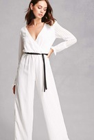 Forever 21 Oh My Love Surplice Jumpsuit