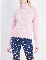 Mary Katrantzou Lancelot turtleneck cable-knit wool jumper